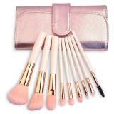 Toko Weimei Makeup Brushes Set Profesional Sintetis Kabuki Kuas Kosmetik Kit Dengan Tas Lipat 9 Pcs Murah Tiongkok