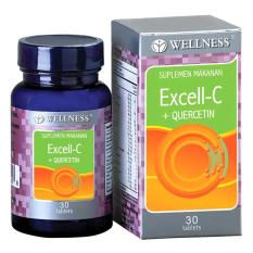 Wellness Excell C Quercetin 30 S Vitamin C Meningkatkan Imunitas Tubuh Daya Tahan Tubuh Kekebalah Tubuh Terbaru