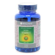 Spesifikasi Wellness Natural Vitamin E 400 I U Family Size 150 Softgel Wellness Terbaru