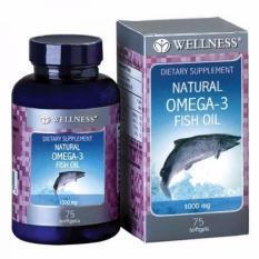 Wellness Omega 3 Fish Oil 1000Mg 75 Softgel Wellness Diskon 30