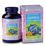 Harga Wellness Squamega Squalene Omega 3 6 9 100 S Fish Oil Minyak Ikan Multivitamin Untuk Jantung Kolesterol Hipertensi Terbaru