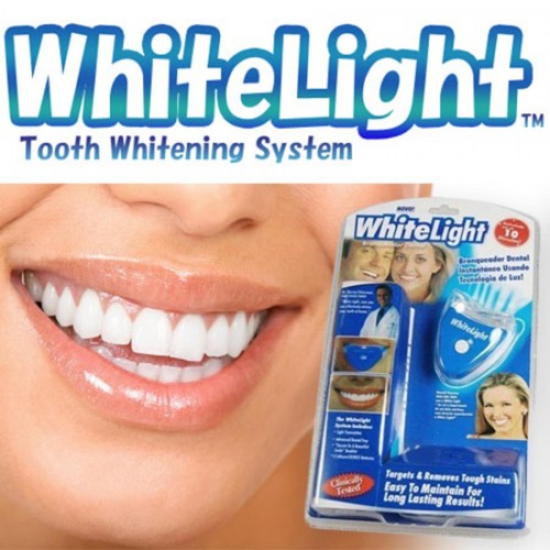 Penawaran White Light Pemutih Gigi Penghilang Bekas Jerawat