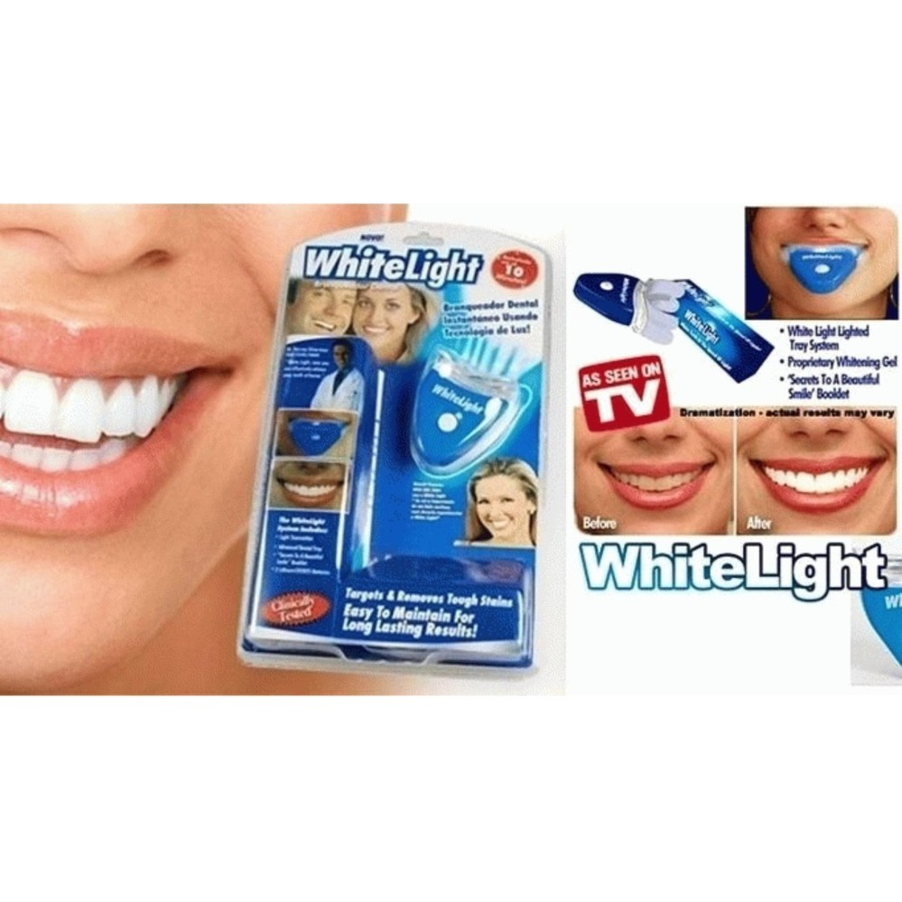 Hemat Whitelight White Light Pemutih Gigi Ampuh Ori Teeth Whitening