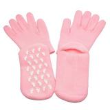 Beli Memutihkan Kulit Moisturizing Treatment Gel Spa Reusable Sarung Tangan Dan Kaus Kaki Pink Yang Bagus