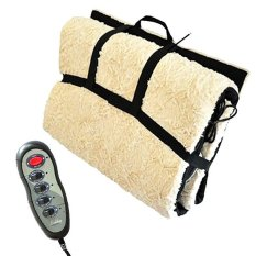 Model Whiz Massage Cushion Mat Reversible Sheep Skin Mattrass Matras Pijat Elektrik Terbaru