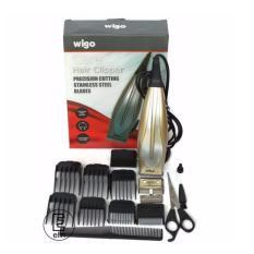 Wigo Hair Clipper W-520 Alat Cukur Rambut - Gold  Free pisau cadangan