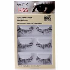 Wink And Kiss Glamour Lashes - Rambut Asli Bulu Bulu Mata Palsu
