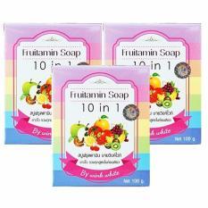 Wink White Fruitamin Soap 10 In 1 100Gr 3 Pcs Asli