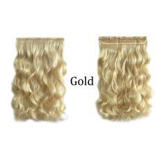 Wanita Wanita Long Curly Hair Piece Wig Klip Dalam Ekstensi Rambut 60 Cm -Intl
