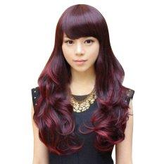 Wanita Lolita Curly Bergelombang Rambut Panjang Penuh Wig Anime Cosplay Wig-Intl