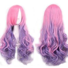 Women Long Curly Wavy Wig Lolita Cosplay Anime Full Hair Wig - intl
