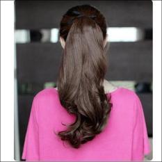 Jual Wanita Long Curly Bergelombang Wig Ponytail Wig Rambut Pony Hairpiece Extension Intl Online