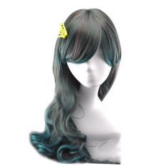 Wanita Long Curly Wig Gradient Warna Anime Wig Wig Rambut Tahan Panas Intl Original