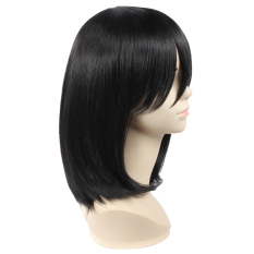 Harga Women Short Straight Black Wigs Side Bangs For Attack On Titan Mikasa Ackerman Intl New