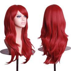 Wanita Cosplay Wig Keriting Rambut Keriting Panjang Berbulu Keriting Rambur Berponi-Intl