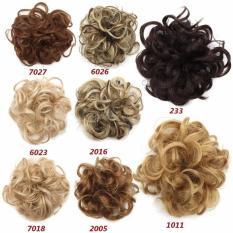 Wanita Bun Berantakan Keriting Rambut Wig Twirl Piece Scrunchie Wig (Jenis: 2005)