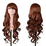 Harga Wanita Wig Keriting Rambut Wig Coklat Rambut Keriting Wig Dengan Bangs Intl Yang Murah