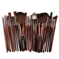 Spesifikasi Wondershop Professional 22Pcs Cosmetic Makeup Brush Set Eyeshadow Foundation Make Up Brush Brown Intl Dan Harga