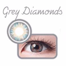 X2 Bio Four Fusion Softlens - Gray Diamonds + Gratis Lenscase