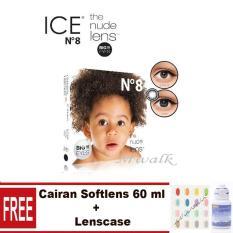 X2 Ice Nude N8 Softlens - Black Gratis Cairan Softlens+ Lenscase