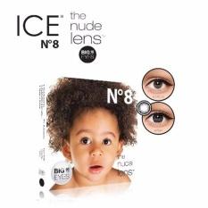 X2 Ice Nude N8 Softlens - Black + Gratis Lenscase