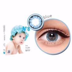X2 Ice Nude N8 Softlens - Blue + Free Lenscase