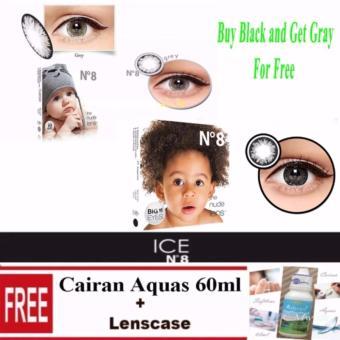 ... Cairan 60ml + Lenscase. Source · X2 Ice Nude N8 Softlens Buy 1 Get 1 Free Black Free - Black & Gray