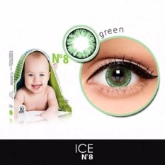 X2 Ice Nude N8 Softlens - Green + Free Lenscase