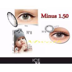 X2 Ice Nude N8 Softlens - Minus 1.50- Gray + Gratis Lenscase