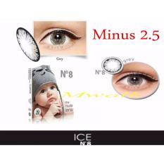 Cuci Gudang X2 Ice N*D* N8 Softlens Minus 2 50 Gray Gratis Lenscase