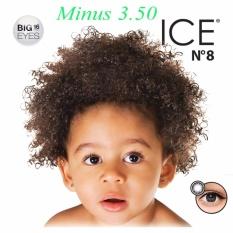 X2 Ice Nude N8 Softlens - Minus 3.50- Black + Gratis Lenscase