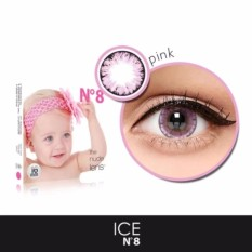 X2 Ice Nude N8 Softlens - Pink + Free Lenscase