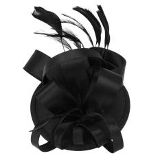 Jual Xinggang Elegan Wanita Bulu Satin Ekor Sinamay Fascinator Party Rambut Klip Bridal Headwear Hitam Intl Online Di Tiongkok