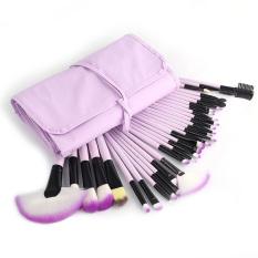 Spesifikasi Yika 32Pcs Makeup Brushes Set Purple Murah
