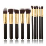 Toko Yingwei Wanita 10 Pieces Makeup Brush Wajah Alat Kecantikan Hitam Emas Online Tiongkok