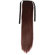 Yingwei Wanita Fashion Lurus Wig Hair Extension Deep Brown