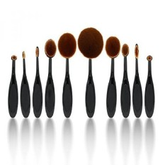Yoa Professional 10 Pcs Soft Oval Toothbrush Makeup Brush Sets Foundation Brushes Cream Contour Powder Blush Concealer Brush Mak
