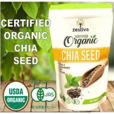 Jual Zestiva Chia Seed Usda Jas Organic Certified 500Grams Chia Seed Organik Oleh Jepang Agriculture Dan Amerika Ori
