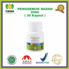 Spesifikasi Zinc Penggemuk Badan Herbal Tiens 30 Kapsul Paling Bagus