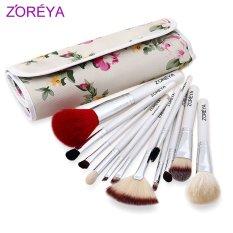 Harga Zoreya 12Pcs Make Up Tools Kit Cosmetic Beauty Makeup Brush Set With Pouch Bag White Intl Zoreya Tiongkok