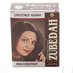 Zubedah Henna Herbal Inai Pewarna Rambut - Chestnut - 6 Pcs