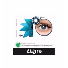 Jual Zuhra Softlens Blue Gratis Lenscase Branded Murah