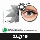 Kualitas Zuhra Softlens Gray Gratis Lenscase Zuhra