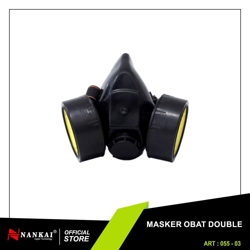 Perkakas Nankai Masker Obat Double Anti Polusi - Half Gas Mask Industrial Anti-Dust Chemical Paint Respirator Double Perkakas Tool By Nankaitools