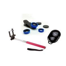 Spesifikasi Monopod Tongsis Pink Lens Clip Fisheye 3In1 Biru Ashutb Hitam Terbaru