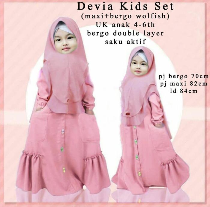 Kitty Fashion Gamis Anak DEVIA Maxi Kids   Baju Anak Lucu   Fashion Anak  Perempuan 7cafbc80bc