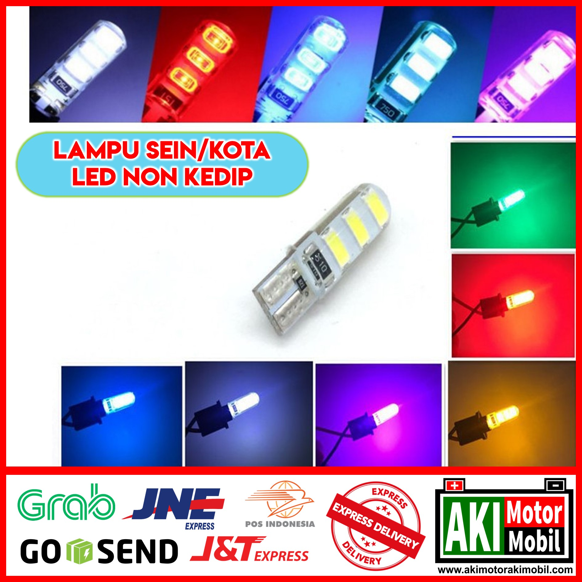 BEST SELLER - LAMPU SENJA LED REMOTE T10 RGB - LAMPU SEIN SIGN SEN / SEPASANG LAMPU LED T10 MOBIL MOTOR RGB NON REMOTE 16 WARNA / LAMPU SEN SENJA LED RGB T10 5050 SMD WARNA NON REMOT CONTROL UNIVERSAL MOTOR MOBIL