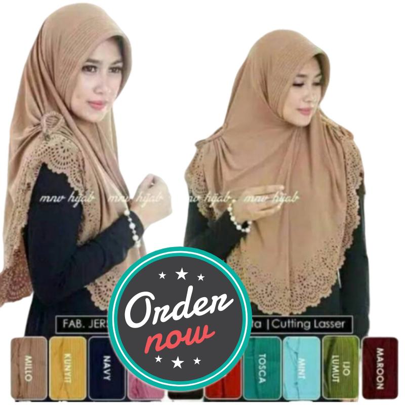 Jilbab / hijab NAJWA syari Remaja / Jilbab ORIGINAL Nizam najwa / jilbab instan / kepang laser / kepang instan