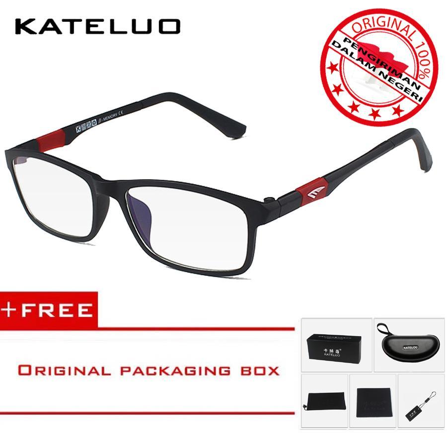 KATELUO 13022 Kacamata Komputer Anti Radiasi Pria Wanita Frame Ringan -  Free Kotak Hardcase Original a58c6f2b36