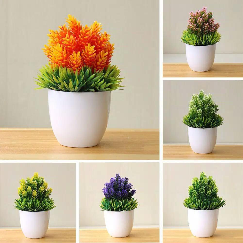 1188e8c81c9 Vinstelle - Pot Tanaman Hias Dekorasi Bunga Bonsai Palsu Untuk Dekorasi  Rumah / Kantor / Hotel